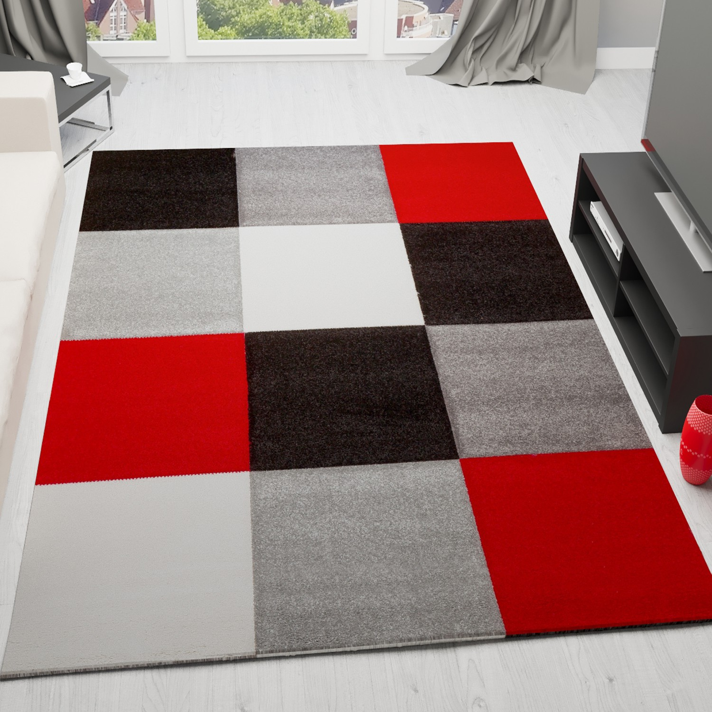 wohnzimmer schwarz rot weiss