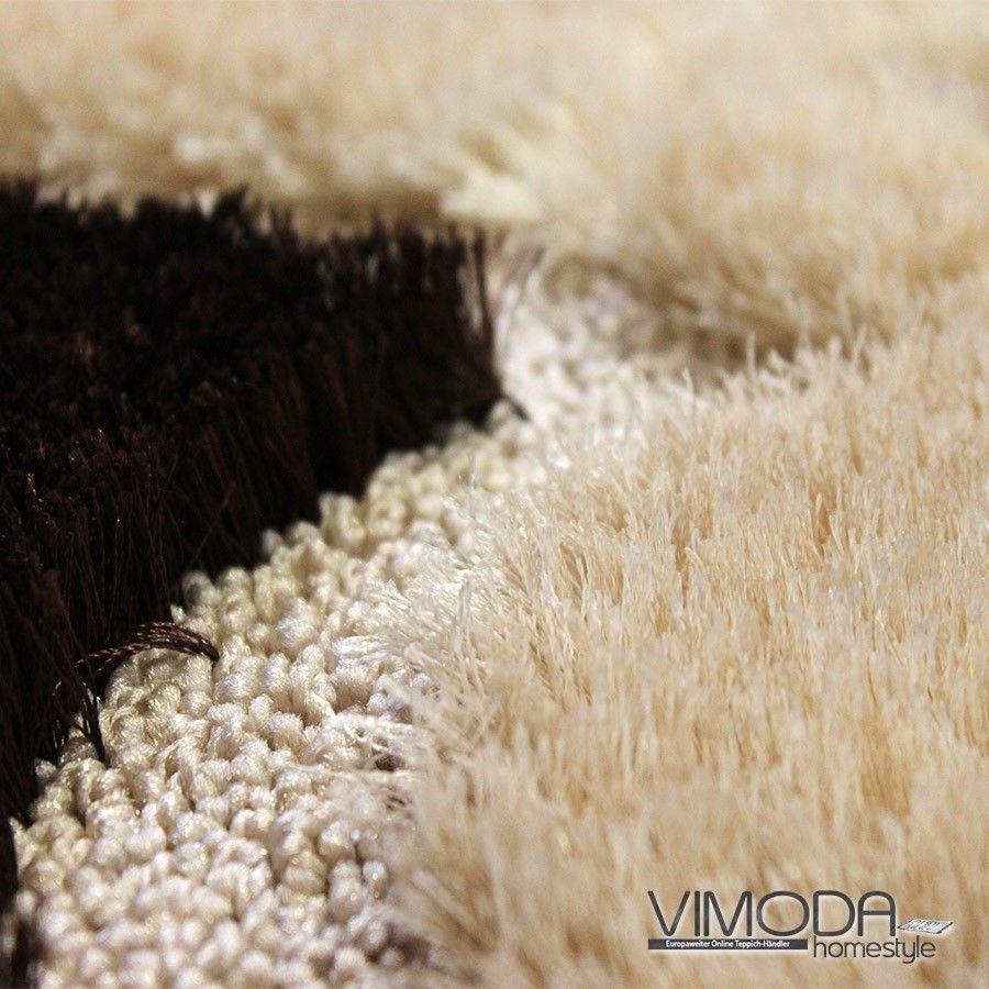 moderner luxus teppich mit glitzer effekt braun versch gr en neu blitzversand ebay. Black Bedroom Furniture Sets. Home Design Ideas