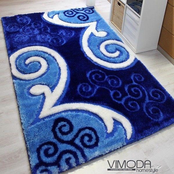 moderner luxus teppich mit glitzer effekt blau versch gr en neu blitzversan ebay. Black Bedroom Furniture Sets. Home Design Ideas