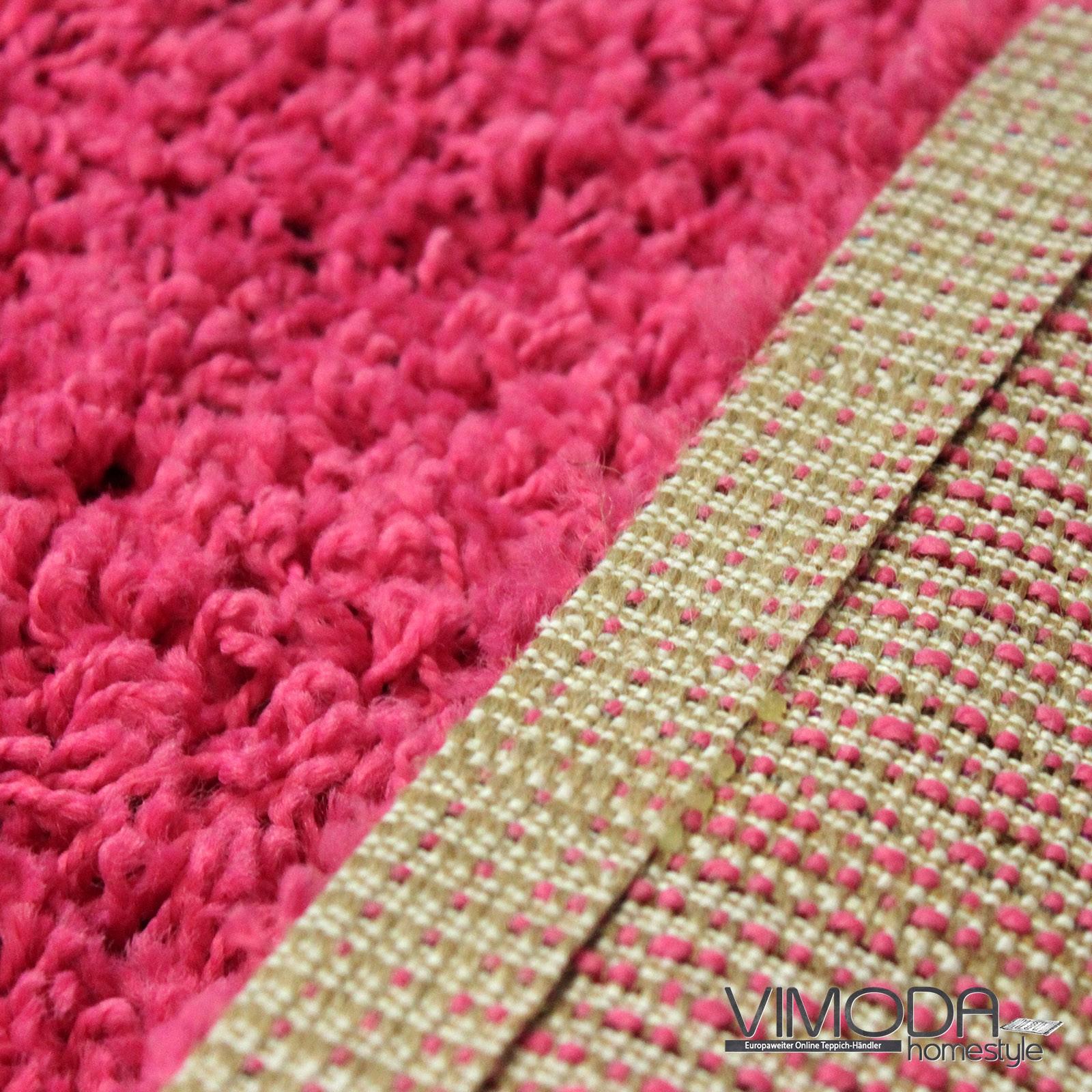 moderner hochflor shaggy teppich farbe pink versch gr en neu blitzversand ebay. Black Bedroom Furniture Sets. Home Design Ideas