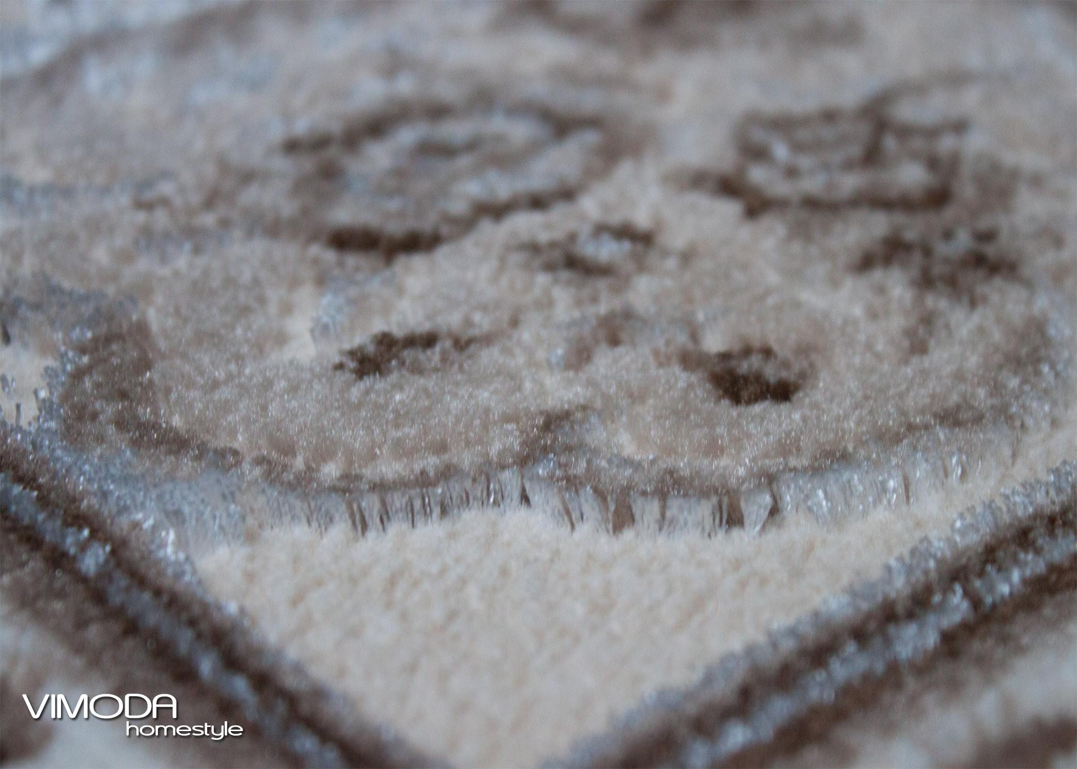 moderner teppich mit polyester 3d effekt orient muster in creme beige ebay. Black Bedroom Furniture Sets. Home Design Ideas