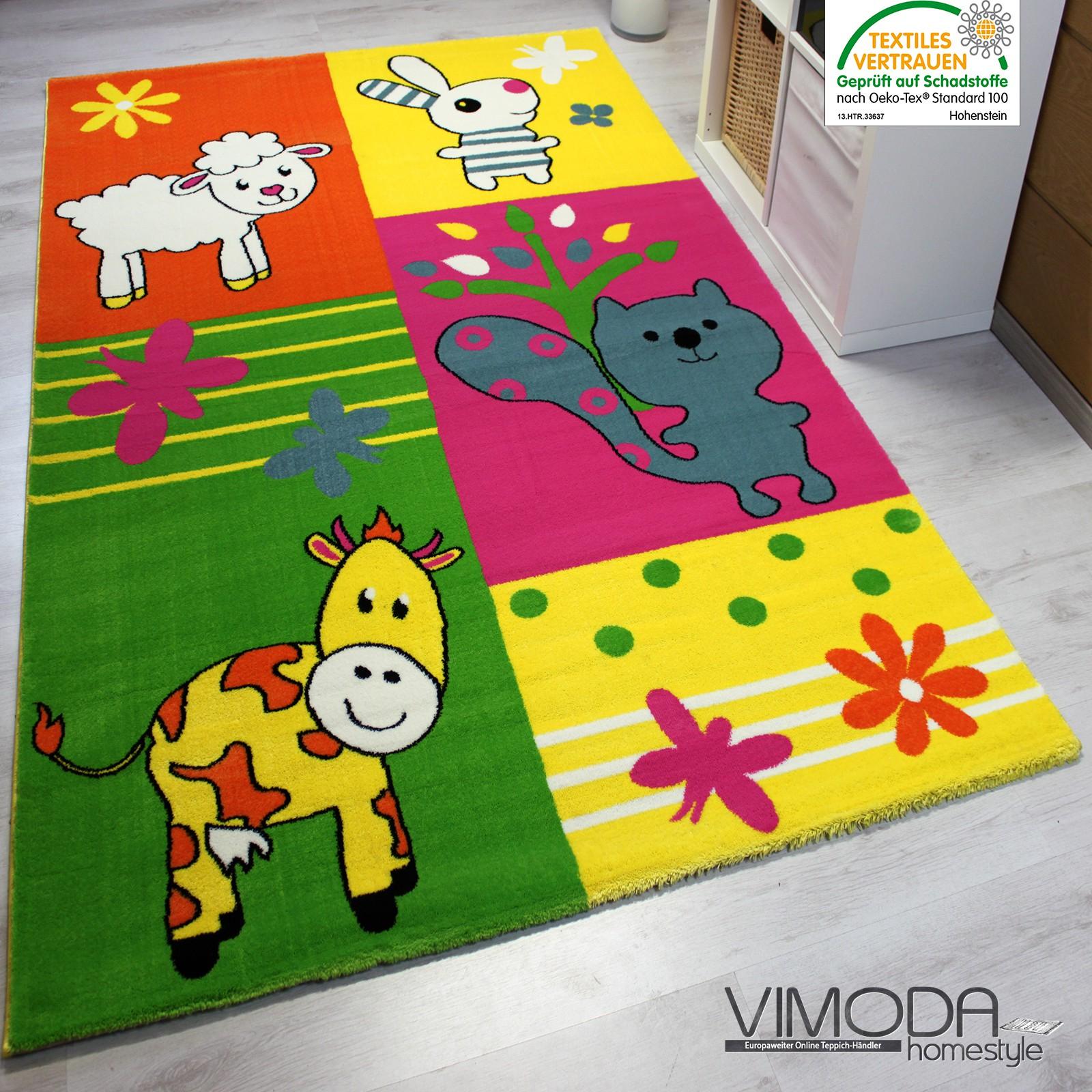 Alfombra infantil granja alfombra ni o vaca oveja en - Alfombra habitacion nino ...