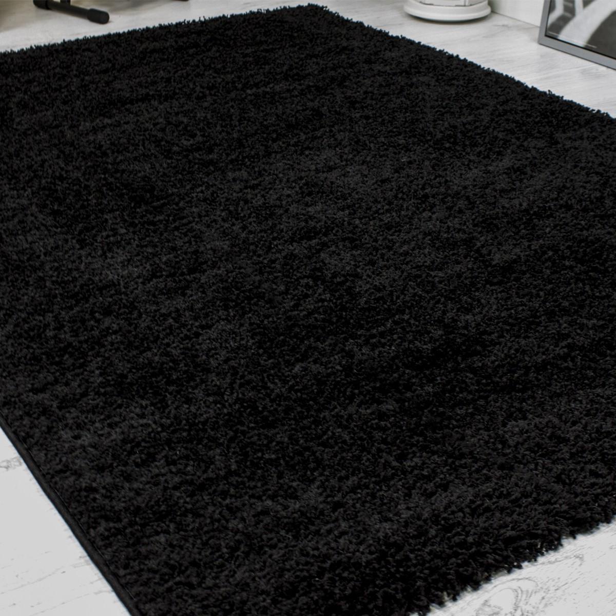 Hochflor Shaggy Teppich Modern Wohnzimmer Lounge Unifarbe