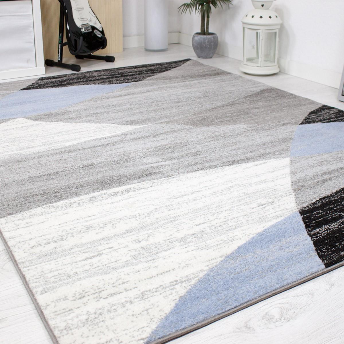 designer wohnzimmer teppich geometrisches muster meliert verschiedene farben neu ebay. Black Bedroom Furniture Sets. Home Design Ideas