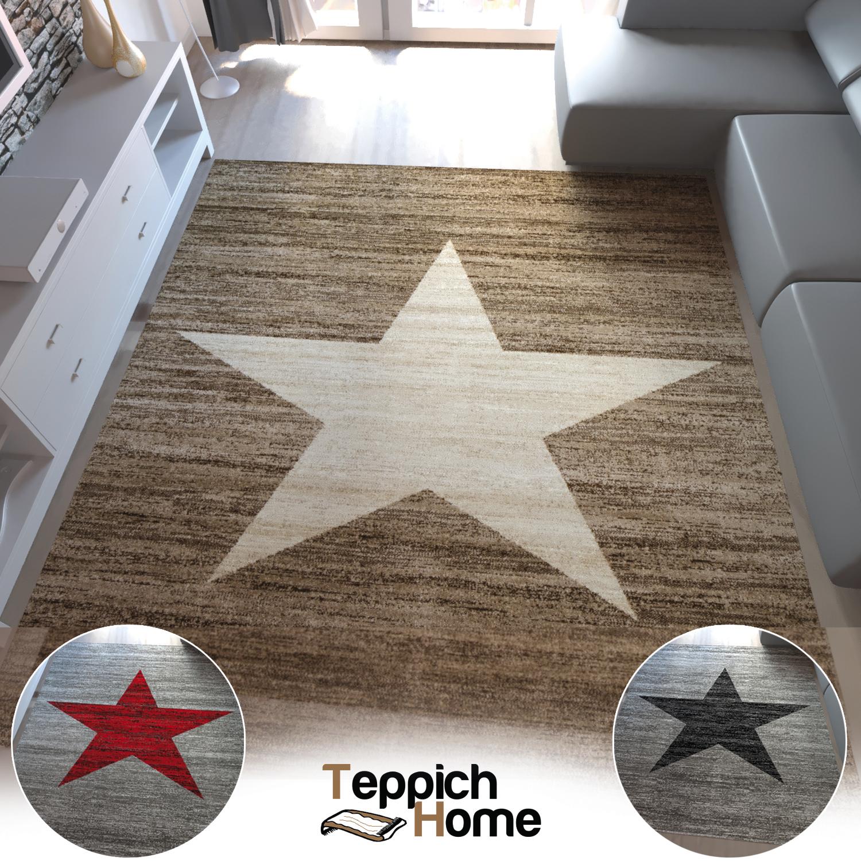 Camera ragazzi tappeto moderno fantasia a stelle rosso for Tappeto camera