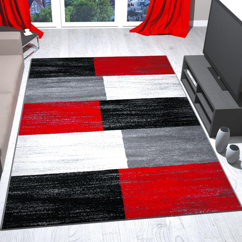 tappeto rosso grigio nero quadrettato bianco gradazione di colori pelo corto ebay. Black Bedroom Furniture Sets. Home Design Ideas