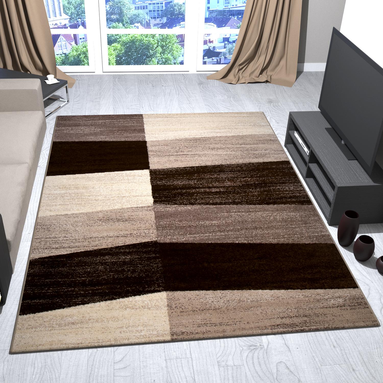 tapis moderne beige marron g om trique surfaces motif. Black Bedroom Furniture Sets. Home Design Ideas