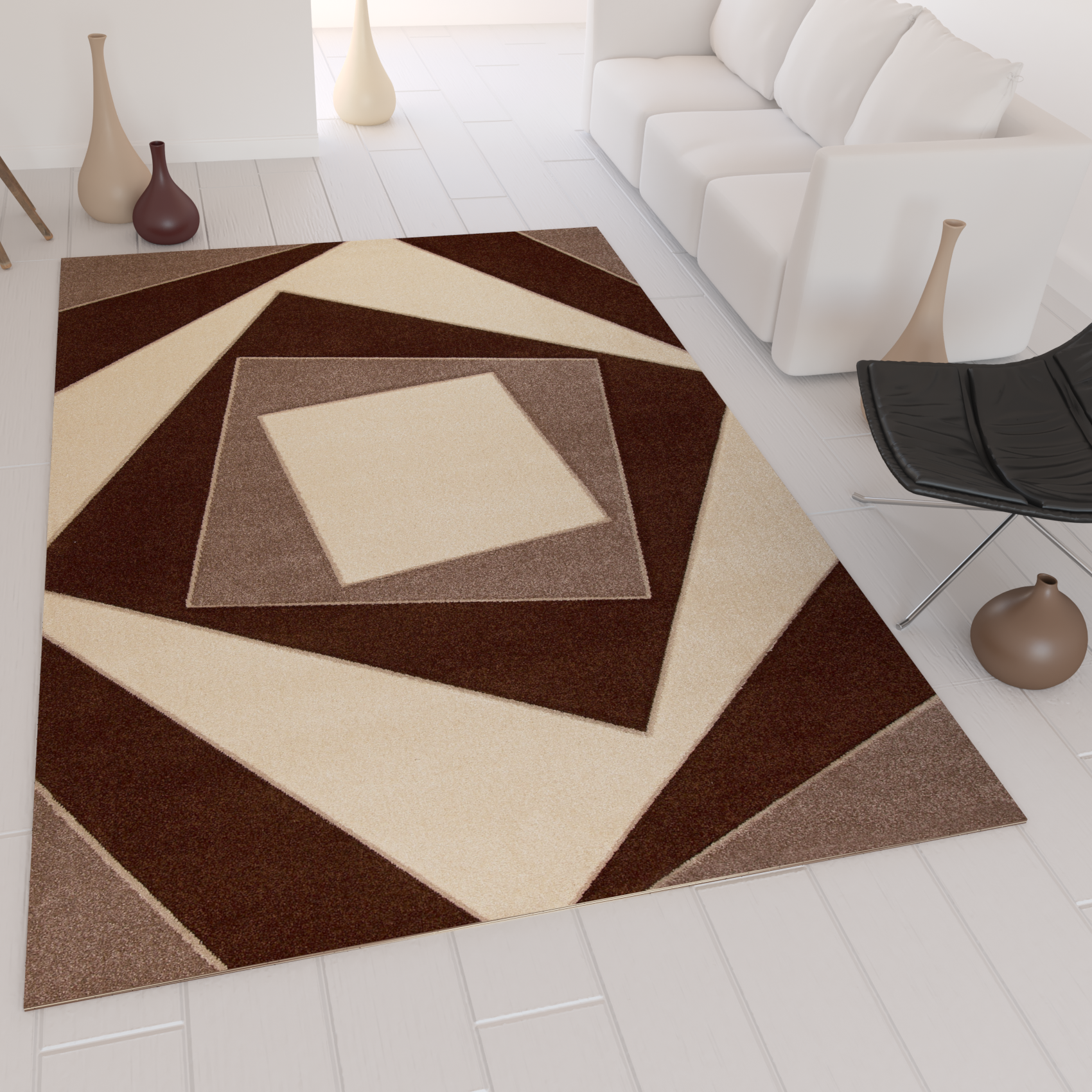 Modern rug check pattern modern design hand cut contours for New check designs