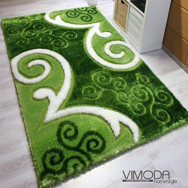 Moderner Luxus Teppich mit Glitzer Effekt - Grün - Z5330