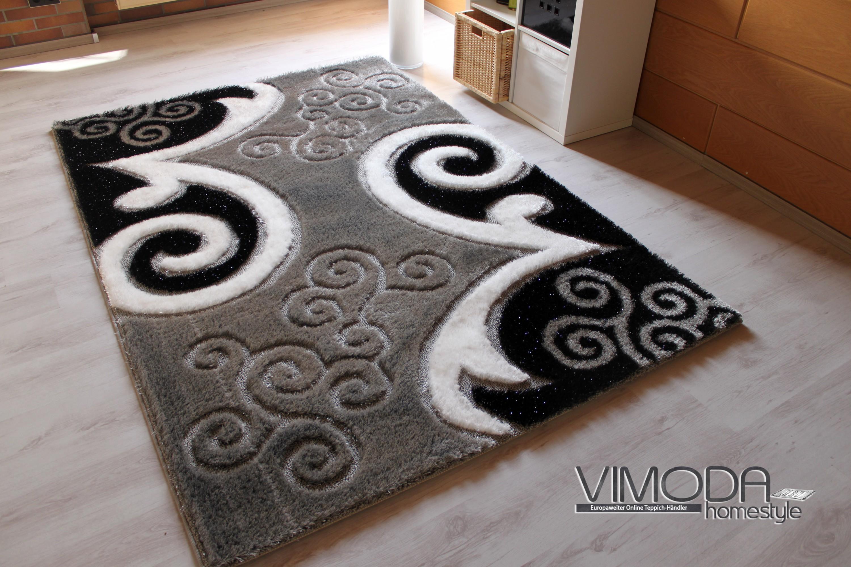 Teppich schwarz weiß grau  Runde Teppiche Schwarz Weiss: Kaufen gro?handel schwarz hand stuhl ...