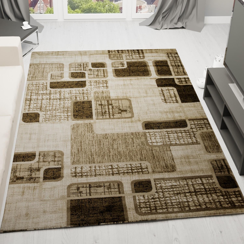moderner designer heatset teppich retro muster kariert. Black Bedroom Furniture Sets. Home Design Ideas