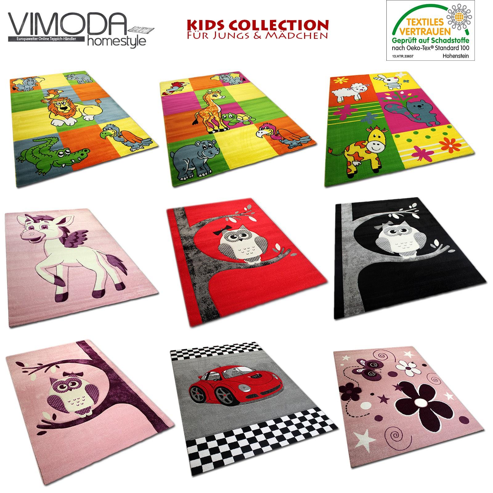 moderne kinderteppiche kinder teppich kuh schaf giraffe in. Black Bedroom Furniture Sets. Home Design Ideas